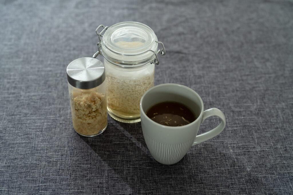 発酵生姜入り麹水割り